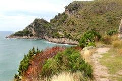 Wilde Landschaft in Gaeta, Italien Lizenzfreie Stockfotografie