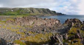 Wilde Landschaft von Varangerhalvoya Stockfoto