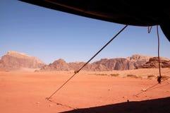 Wilde Landschaft von Wadi Rum Jordan Lizenzfreies Stockfoto
