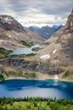 Wilde Landschaftsgebirgszugansicht, Alberta, Kanada Stockfotografie