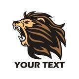 Wilde Lion Roaring Logo Mascot Design-Vector Stock Afbeelding