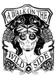 Wilde Maske Stockfoto