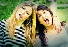 Wilde meisjes Stock Foto