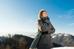 Wilde Natur- und Winterkälte Stockbild