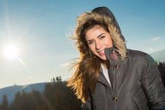 Wilde Natur- und Winterkälte Stockfoto