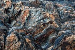 Wilde Naturstein-Felsenbeschaffenheit vulkanisch Abstrakte Naturbeschaffenheit stockbild