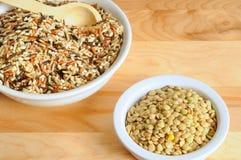 Wilde rijst en linzen Royalty-vrije Stock Fotografie
