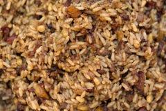 Wilde rijst met bacon en rozijnen Royalty-vrije Stock Fotografie