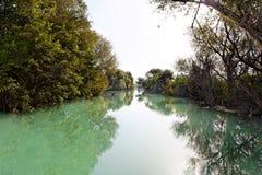 Wilde rivier dichtbij Parga, Griekenland, Europa Royalty-vrije Stock Afbeeldingen