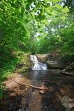 Wilde rivierwaterval (Kravtsovka) royalty-vrije stock fotografie