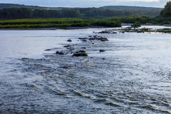 Wilde ruwe rivier royalty-vrije stock foto
