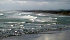 Wilde stranden van Nieuw Zeeland stock foto's