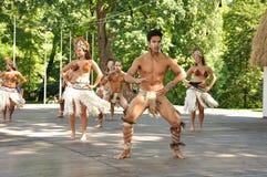Wilde Tänzer von Chile, Rapa Nui Stockfotos