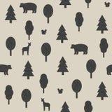 Wilde Tiere im Waldmuster Lizenzfreie Stockfotos