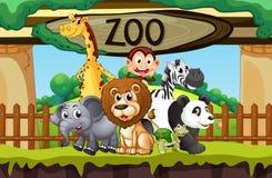 Wilde Tiere am Zoo stock abbildung