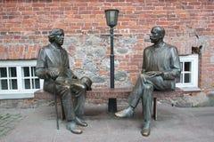 Wilde and Vilde sculptures Tartu Stock Photo