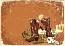 Wilde westelijke achtergrond voor tekst Royalty-vrije Stock Fotografie