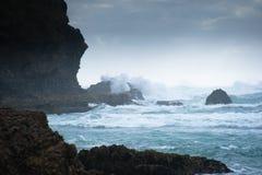 Wilde Westküstenlinie stockfotos