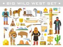 Wilde Westvektorelemente Stockfoto