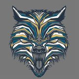 wilde wolf in pop-art vector illustratie