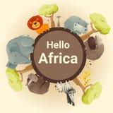 Wilder afrikanischer Tierhintergrund Lizenzfreies Stockfoto