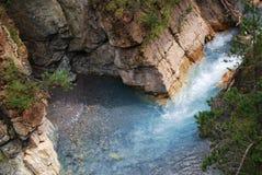 Wilder blauer Fluss Lizenzfreies Stockfoto