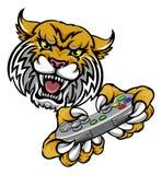 Wilder Bobcat Player Gamer Mascot Lizenzfreies Stockbild