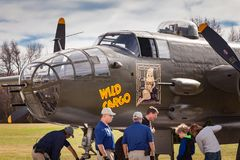 Wilder Bomber der Fracht-B-25 Lizenzfreies Stockbild