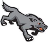 Wilder Hund Wolf Stalking Retro Lizenzfreies Stockfoto