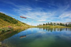 Wilder Kaiser, alpi austriache Fotografie Stock