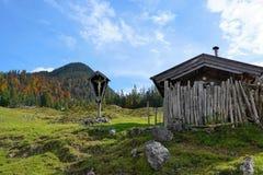 Wilder kaiser mountain in austria stock image