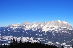 Wilder Kaiser mountains Royalty Free Stock Photos