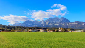 Wilder Kaiser. View to the Wilder Kaiser mountains near Kitzbuehel Stock Photo