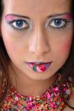 wilder makijaż Zdjęcie Royalty Free