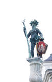 Wilder Mann Wild Man-standbeeld in Salzburg Stock Foto's