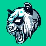 Wilder Panda Esports Logo für Maskottchen-Spiel und Zuckung stock abbildung