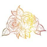 Wilder rosafarbener lokalisierter Gegenstand des Blumenblumenstraußes Entwurf lizenzfreie abbildung