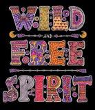 Wilder und freier Geist stock abbildung