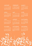 Wilder Vegetation Kalender Stockfoto