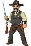 Wilder Westen. Karikaturpolizeichef vektor abbildung