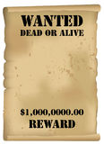 Wilder Westen wünschte Plakat Lizenzfreie Stockbilder