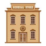 Wilder Westgemischtwarenladen stock abbildung