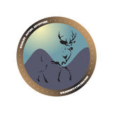 Wilderness adventure explorer outdoor badge Royalty Free Stock Photography