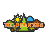 Wilderness badge sticker or logo. Stock Image