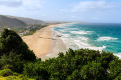 Wilderness Beach in South Africa. Aerial view of Wilderness Beach in South Africa Royalty Free Stock Photos