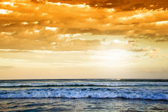 Wilderness Beach at sunset, South Africa stock image