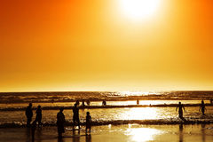 Wilderness Beach at sunset, South Africa Royalty Free Stock Photo