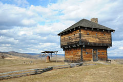 Wilderness Blockhouse Royalty Free Stock Photography