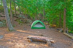 Wilderness Camp in the North Woods Royalty Free Stock Images