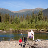 Wilderness camping Stock Photography